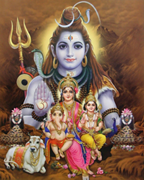 Lord Shiva Kalpavriksha Kamadhenu