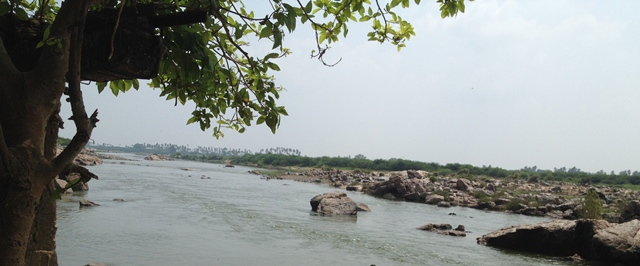 तुंगभद्रा नदी, बिचालि, रायचूर जिला, कर्नाटक:: meerasubbarao.wordpress.com के सौजन्य से
