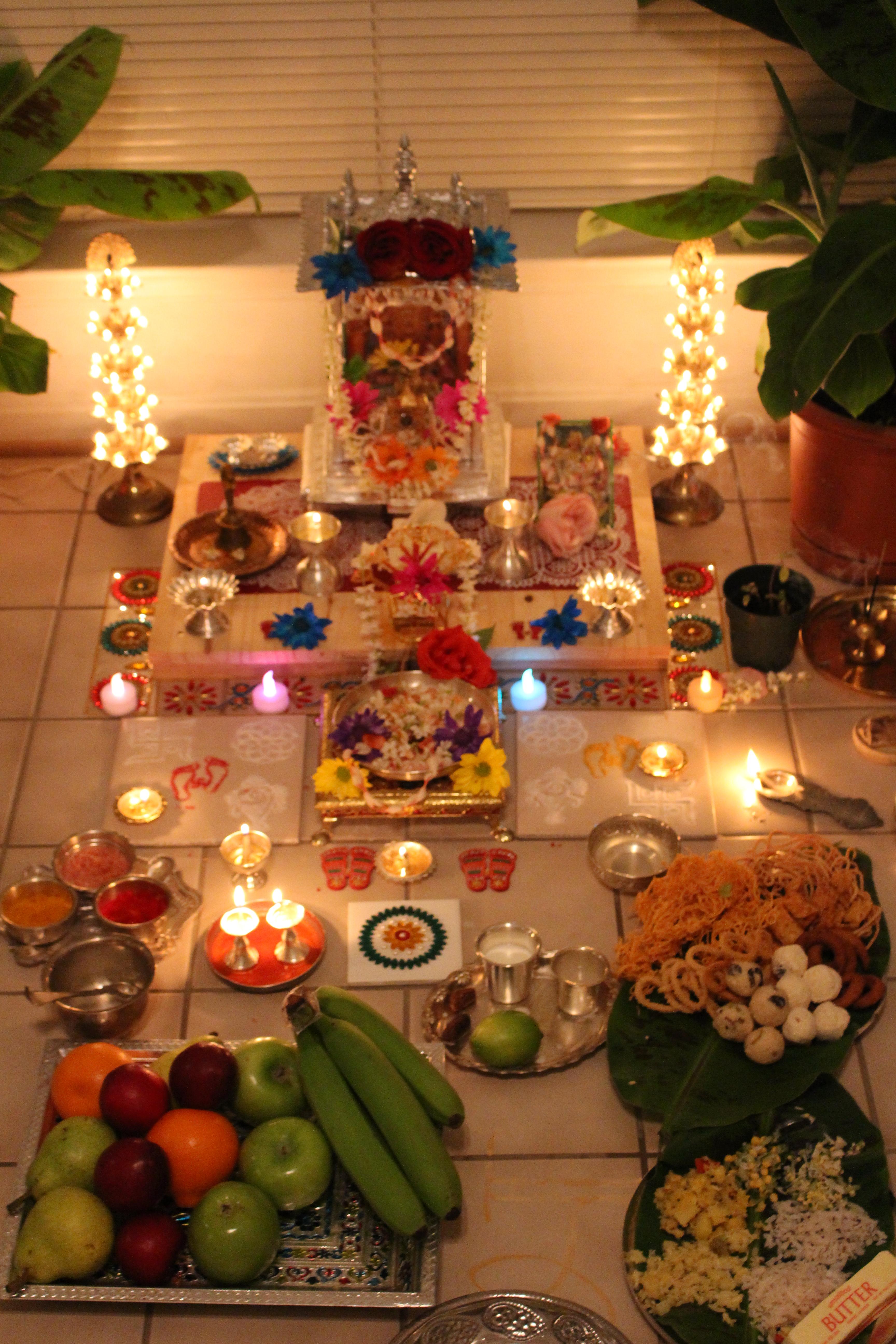 Hindu Decorations For Home Lakshmi Pooja Kalpavriksha Kamadhenu